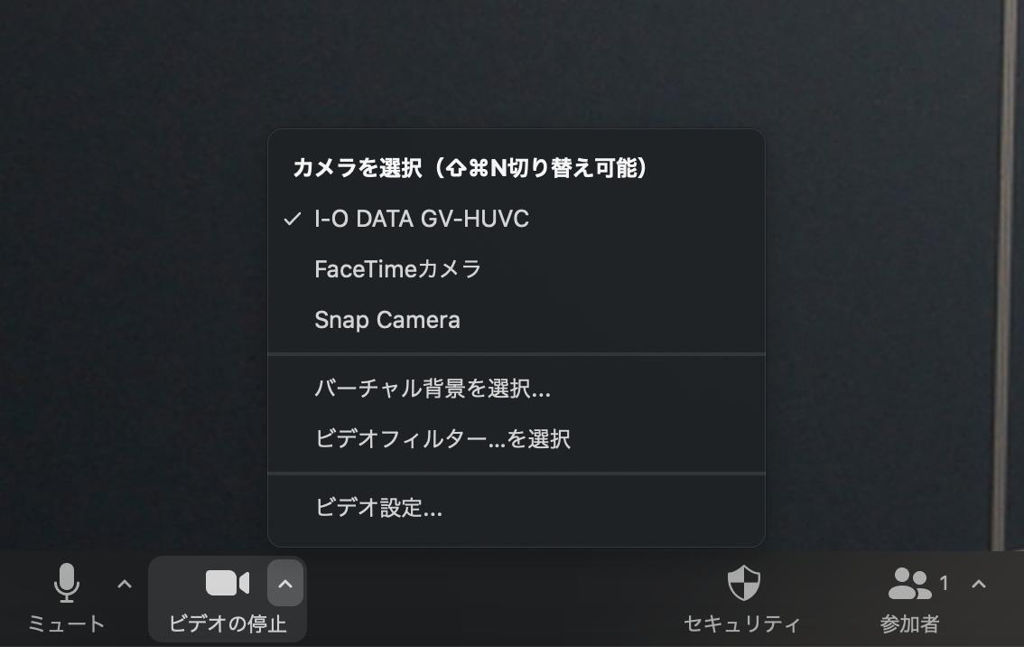 ビデオ カメラ Zoom
